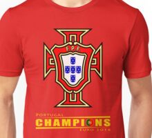 PORTUGAL, CHAMPIONS, EURO Unisex T-Shirt