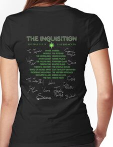 Inquisition Concert Tour Womens Fitted T-Shirt