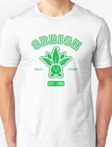 Oddish College Style Green Design T-Shirt