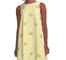 A-Line Dress - Soft Gold on Butter Cup A-Line Dress