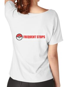 Pokemon Go - Frequent Stops - Recommended Size for Car is Large Women's Relaxed Fit T-Shirt
