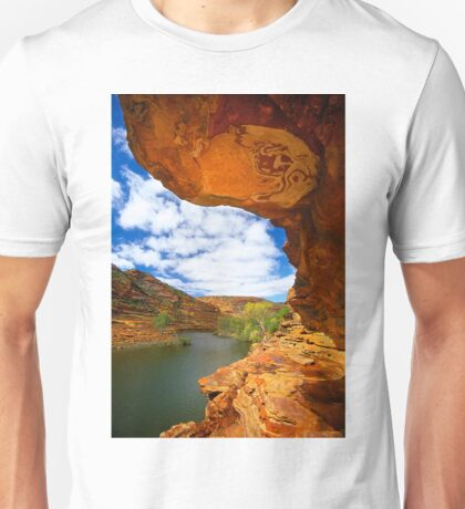 Murchison River and Rock Overhang Unisex T-Shirt