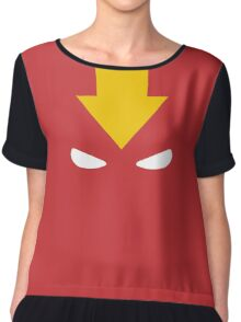 Red Tornado Mask Chiffon Top