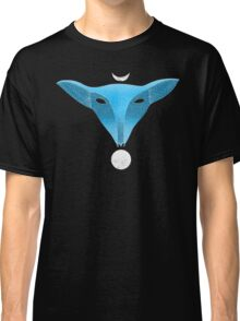 Blue fox mask with moons Classic T-Shirt