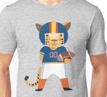 Cartoon Animals Sports Tiger Football Player Unisex T-Shirt
