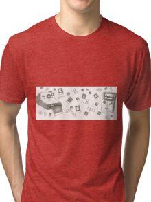 Pixels and Polaroids Tri-blend T-Shirt