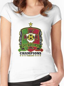 Portugal Champions Europe Women's Fitted Scoop T-Shirt