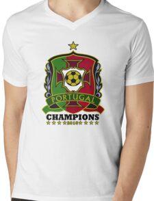 Portugal Champions Europe Mens V-Neck T-Shirt