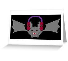 Creepy Goth Bat Greeting Card