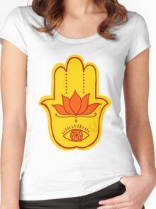 Hamsa (Fire) Women's Fitted Scoop T-Shirt