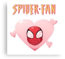 Spider-Fan Canvas Print