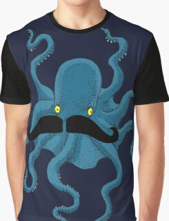 Octopus with a Mustache Graphic T-Shirt
