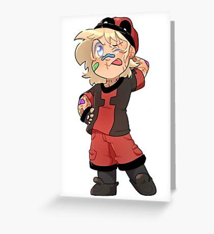 Little Hero-Wade Greeting Card