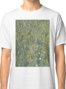 Vincent Van Gogh - Ears Of Wheat. Field landscape: field landscape, nature, village, garden, flowers, trees, sun, rustic, countryside, sky and clouds, summer Classic T-Shirt