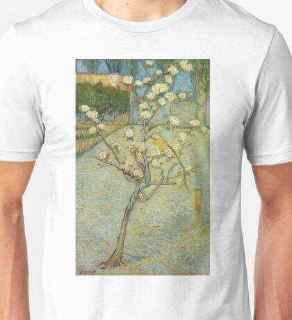Vincent Van Gogh - Small Pear Tree In Blossom. Still life with flowers: flowers, blossom, nature, botanical, floral flora, wonderful flower, plants, cute plant for kitchen interior, garden, vase Unisex T-Shirt