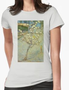 Vincent Van Gogh - Small Pear Tree In Blossom. Still life with flowers: flowers, blossom, nature, botanical, floral flora, wonderful flower, plants, cute plant for kitchen interior, garden, vase Womens Fitted T-Shirt