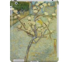 Vincent Van Gogh - Small Pear Tree In Blossom. Still life with flowers: flowers, blossom, nature, botanical, floral flora, wonderful flower, plants, cute plant for kitchen interior, garden, vase iPad Case/Skin