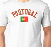 Portugal Flag Vintage Unisex T-Shirt