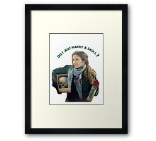 Waverly Earp: Did I Just Marry A Skull? Framed Print