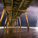 Pier Of Lightning by Shannon Rogers