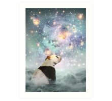 Let Your Dreams Take Flight • (Panda Dreams 2 / Color 2) Art Print