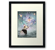 Let Your Dreams Take Flight • (Panda Dreams 2 / Color 2) Framed Print