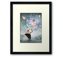 Let Your Dreams Take Flight • (Panda Dreams 2 / Color 2) Framed Print