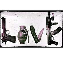 LOVE GUNS  Photographic Print