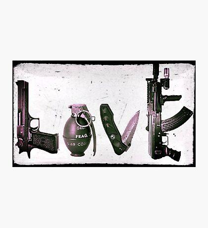 LOVE GUNS  Photographic Print