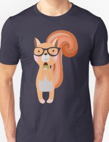 Funny Cartoon Animals Squirrel With Acorn Unisex T-Shirt