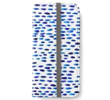 Cobalt Blue Brushstrokes iPhone Wallet/Case/Skin