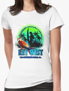 The Sunset Paradise - Key west Womens Fitted T-Shirt
