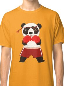 Cartoon Animals Fighting Boxing Panda Bear Classic T-Shirt