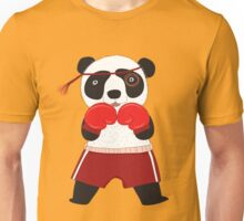 Cartoon Animals Fighting Boxing Panda Bear Unisex T-Shirt