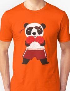Cartoon Animals Fighting Boxing Panda Bear Unisex T-Shirt