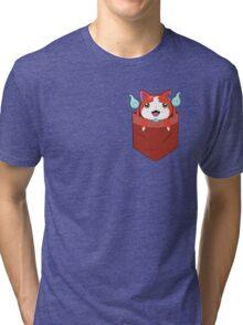 Pocket Jibanyan Tri-blend T-Shirt