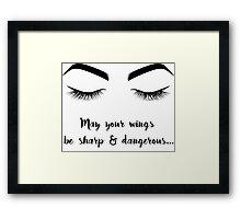 Eyeliner Mantra Framed Print