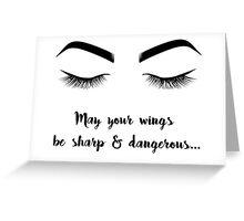 Eyeliner Mantra Greeting Card