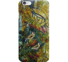 """Goldfinches in the sorb-tree """"sorbus aucuparia """" iPhone Case/Skin"""