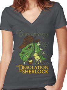 The Desolation of Sherlock Women's Fitted V-Neck T-Shirt