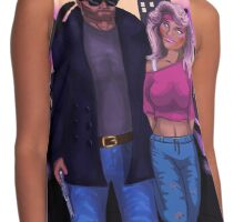 80's Comic Book Characters Concept Contrast Tank