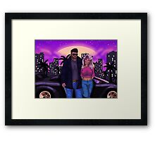 80's Comic Book Characters Concept Framed Print