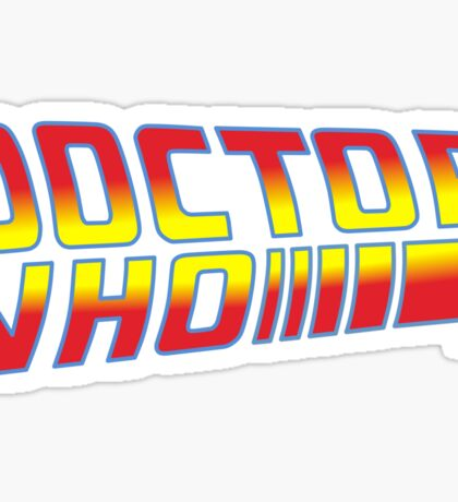 Back to Doctor Who Mash Up  Sticker