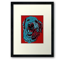 Patriotic Golden Retriever Framed Print