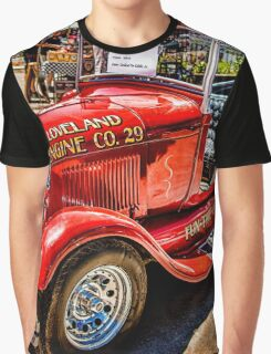 Hot Rod Fire Truck Graphic T-Shirt