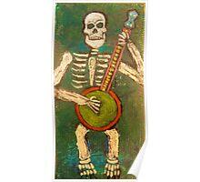 Banjo Skeleton Poster