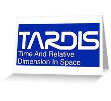NASA Worm Logo TARDIS (White) Greeting Card