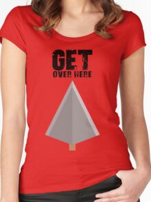 Get over here! Women's Fitted Scoop T-Shirt