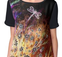 Moonlight Dance - Flowers Chiffon Top