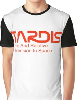 NASA Worm Logo TARDIS Graphic T-Shirt